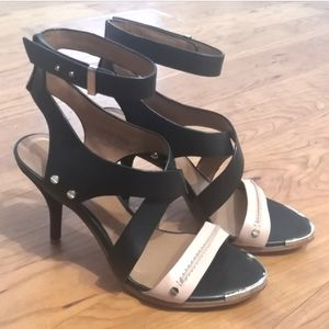 Rachel Roy fully leather strappy heels